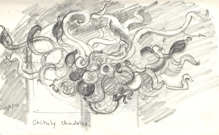 chihuly chandelier sketch