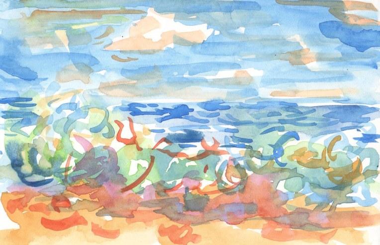 wave on the beach, summer