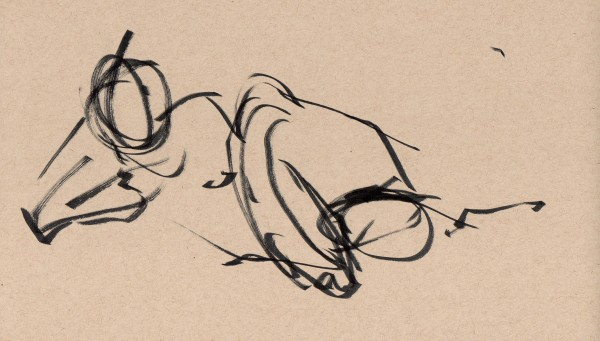 gesture sketch from the model