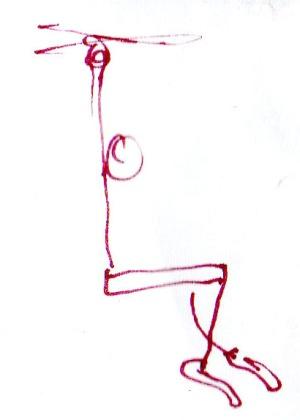 hanging figure