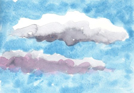 cloud watercolor