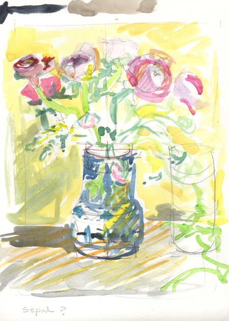 floral teaching sketch