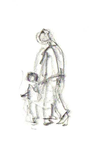 parent and child sketch