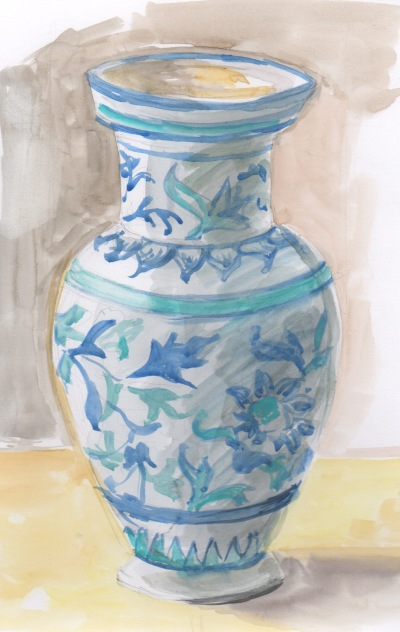 Italian vase watercolor