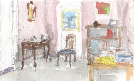 waiting room watercolor