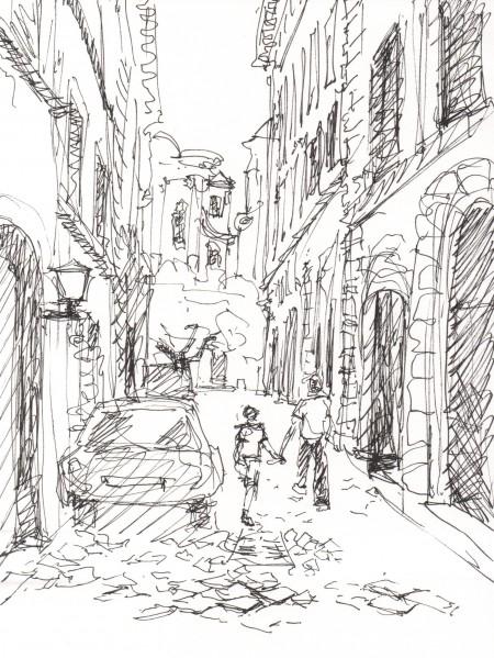 roman alley sketch