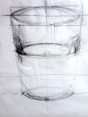 water glass sketch
