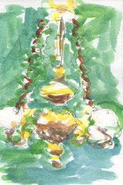 chandelier sketch