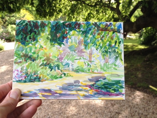jardin des plantes watercolor
