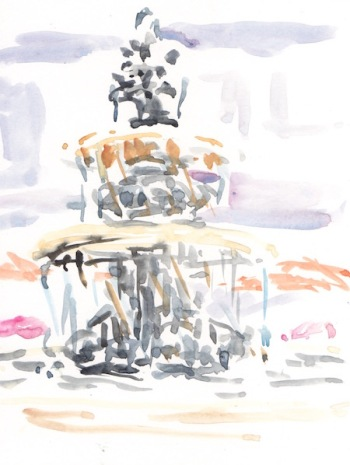 fountain sketch depasquale square