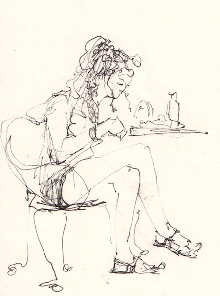 figure at lunch