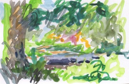 landscape color impression bioswale providence college
