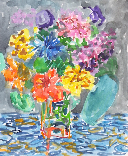 late summer bouquet watercolor