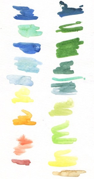 color swatches watercolor class