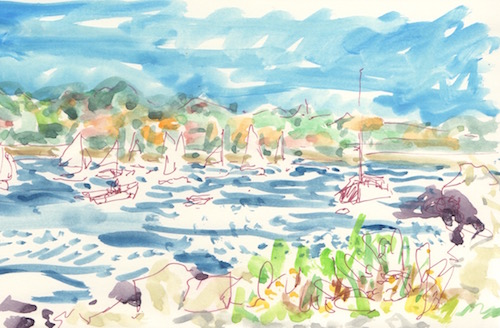 boats on the water-quick sketch