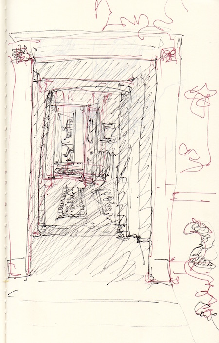hallway interior drawing