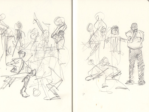 basketball game gesture sketches