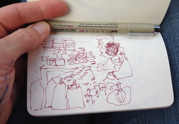 coffee shop sketch