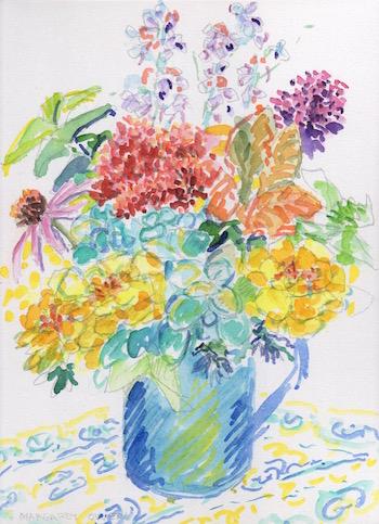 autumn bouquet watercolor