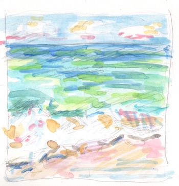 seashore watercolor