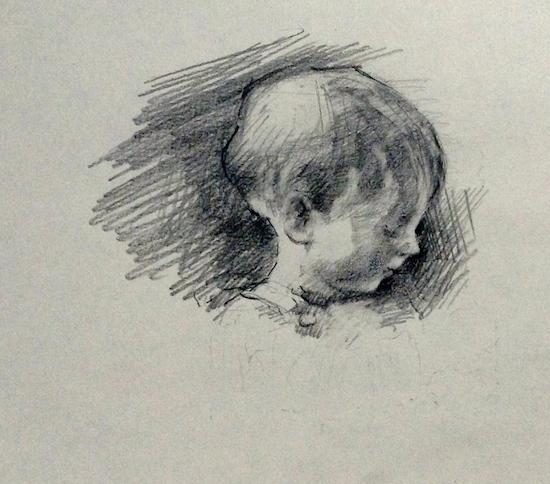 hutchinson_elizabeth_study of a child's head